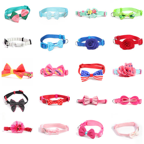 Pet Cat Collars for Cats Necklace Collar Safety Bowtie Breakaway Collars for Pets Kitten Cats