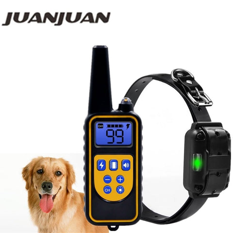 Electric remote Dog Training Collar Waterproof Rechargeable with LCD Display for All Size beep Shock Vibration Mode