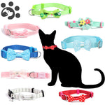 Pet Fiber Adjustable Collars with Bells Bow Tie Necklace for Small Pet Dog & Cat