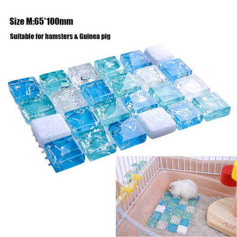 Pet Cool Blanket Hamster Rabbit Cool Pad Cooling Board Mesocricetus Auratus Squirrel Cavia Porcellus Cooling Board Summer Mat