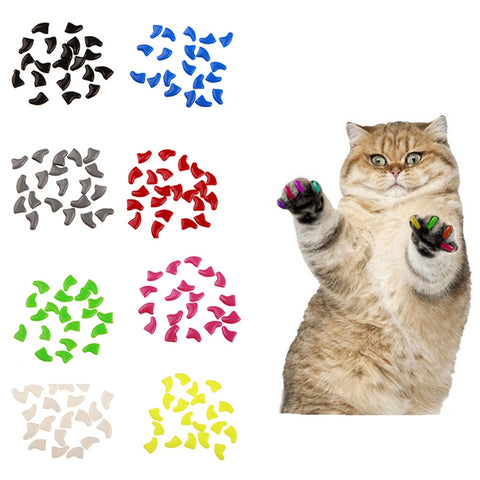 20Pcs Soft Silicone Cat Nail Caps/Cat Nail Cover/Paw Claw with Free Glue and Applicator Pet Nail Protector Pet Product