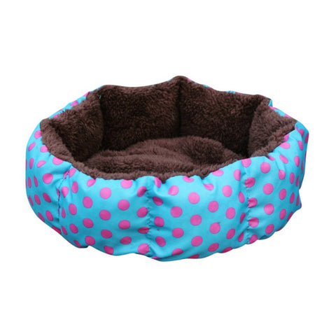 Colorful Cat And Dog Bed with Leopard Print (Pet's Comfortable Sleeping Place)
