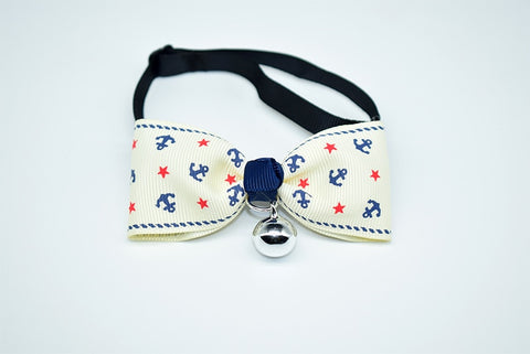 Cute Bow Tie Bell Pet Collars Adjustable Lovely Necklace Soft Safety Bowknot Kitten for Cat Puppy Dog Collar