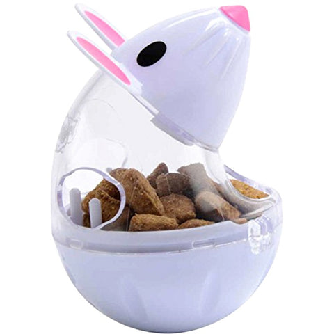 Lovely Kitten Pet Feeder Toy Cat Mice Shape Food Rolling Leakage Dispenser Bowl Playing Training Educational Toys