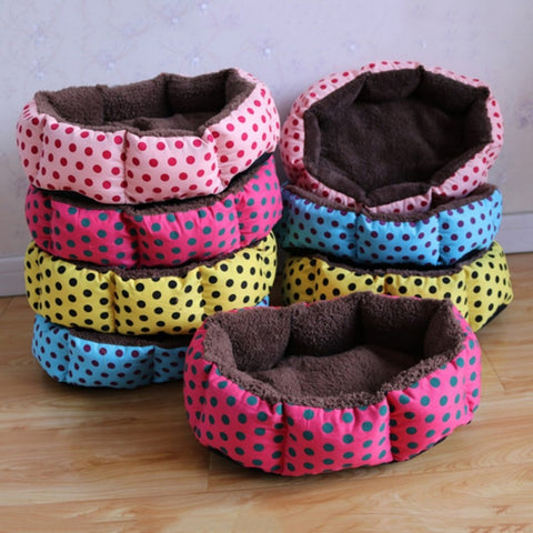 Cute Octagonal Beds for Dogs & Cats with Leopard Design- Colorful Print