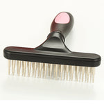 Double Row Pins Professional Horses Undercoat Rake Cats Loosen Wet Dry Use for Grooming Pets