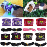 Hamster Harness Vest Adjustable Leash Set for Guinea Pig Chinchilla Mice Rat Ferret Small Animal Accessorie