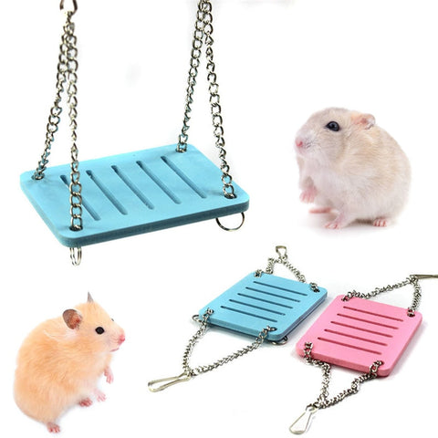 Cute Parrot Hamster Small Swing Hanging Bed Shake Suspension House Pet Toy