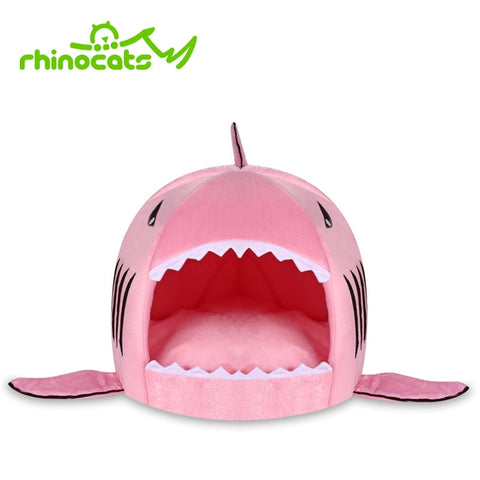 Hamster Hedgehog Soft Pad Bed/House with Shark Design (Small Animal Cage)
