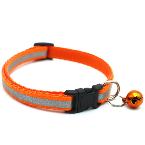 Reflective Charming Collar with Bell for Cat & Dog (Safety & Adjustable Pet Product)