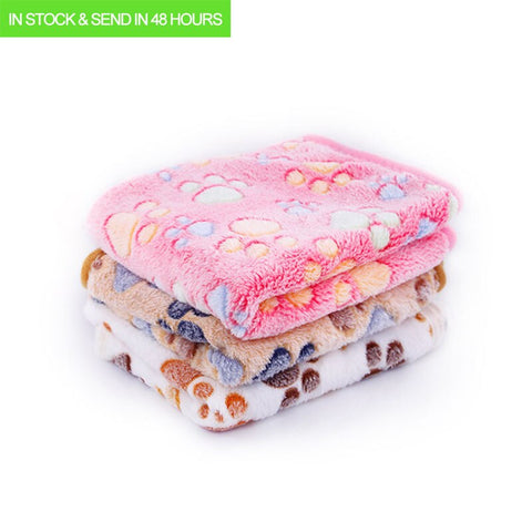3 COLORS 40x60cm 75x50cm Pet Dog Blanket Thicken Dog Mat Soft Pet Bed Warm Flannel Dog Cat Bed Pet House Double Sided Dog Nest