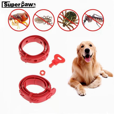 Adjustable Dog and Cat Neck Strap, for Anti Flea Mite Acari Tick Pet Collar