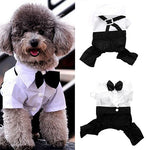 Hot! Pet Dog Cat Clothes Prince Tuxedo Bow Tie Suit Puppy Costume Jumpsuit Coat S-XXL 456fwr32 Dog Clothes Suit for dogs