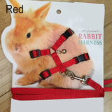 Pet Rabbit Soft Harness Leash (Adjustable) Traction Rope for Running and Walking