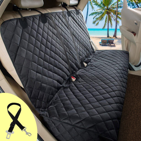 Dog & Cat Car Seat Cover (Waterproof) Cushion Protector With Middle Seat Armrest