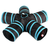 Indoor 2/3/4/5-way Collapsible Tunnel Tube for Cat Puppy Kitten & Rabbit