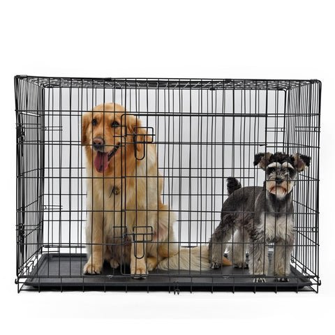Universal Dog Metal Cage with Tray (Foldable) Iron Kennel Home