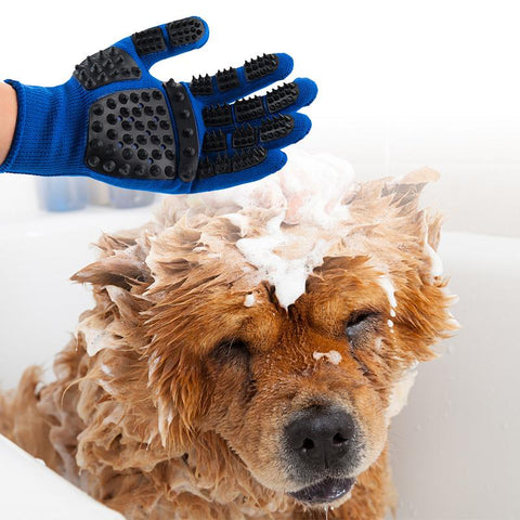 Grooming Gloves while Bathing Pets Dog and Cat