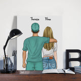 Customize Hand Draw Canvas-Print Gift -Doctor&Girl