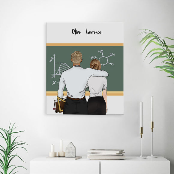 Customize Hand Draw Canvas-Print Gift -Teacher&Secretary