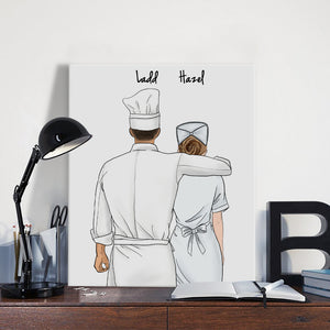 Customize Hand Draw Canvas-Print Gift -Chef&Nurse/Paramedic
