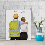 Customize Hand Draw Canvas-Print Gift -Builder&Secretary