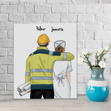 Customize Hand Draw Canvas-Print Gift -EngineerBoy&Nurse Paramedic