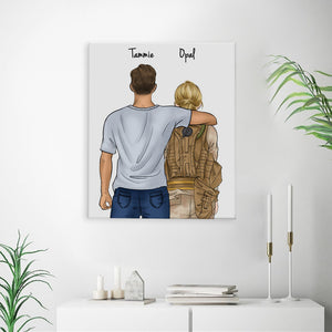 Customize Hand Draw Canvas-Print Gift -Boy&Soldier Soldat