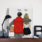 Customize Hand Draw Canvas-Print Gift -Courier&Girl