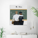 Customize Hand Draw Canvas-Print Gift -Teacher&Police