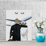 Customize Hand Draw Canvas-Print Gift -Pilot1&Nurse Paramedic