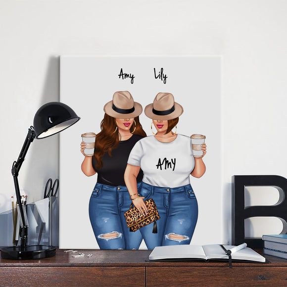 Customize Hand Draw Canvas-Print Best Gift -Best friend