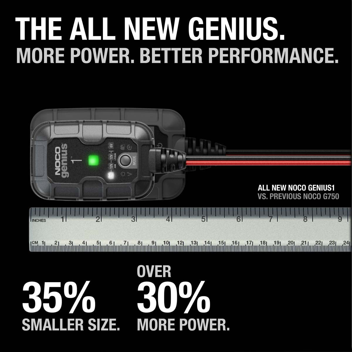 Noco GENIUS1 6V 12V 1A Battery Charger