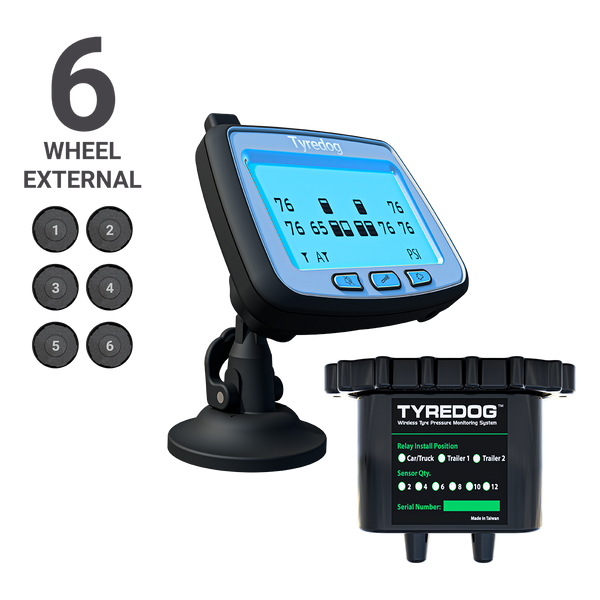 Tyredog TD-2700F-X06 - 6 Wheel External Tyre Pressure Monitoring System