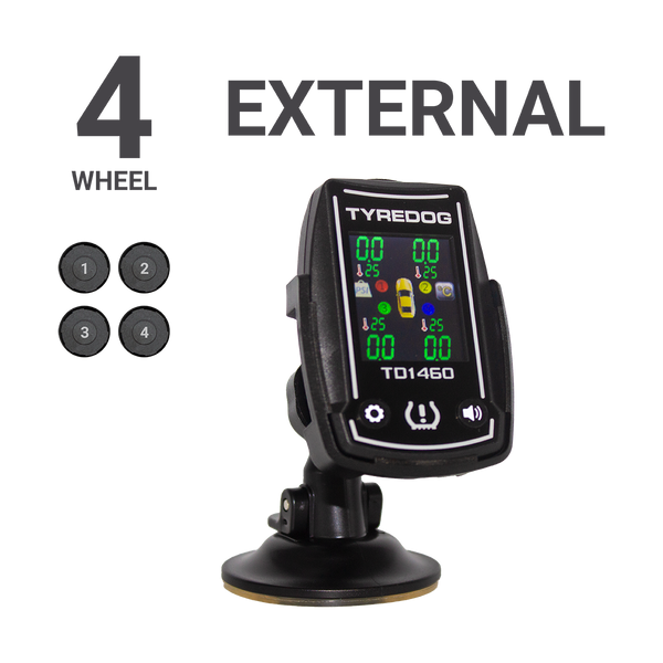 Tyredog TD-1460-X4 Colour Screen 4x4 Tyre Pressure Monitoring System