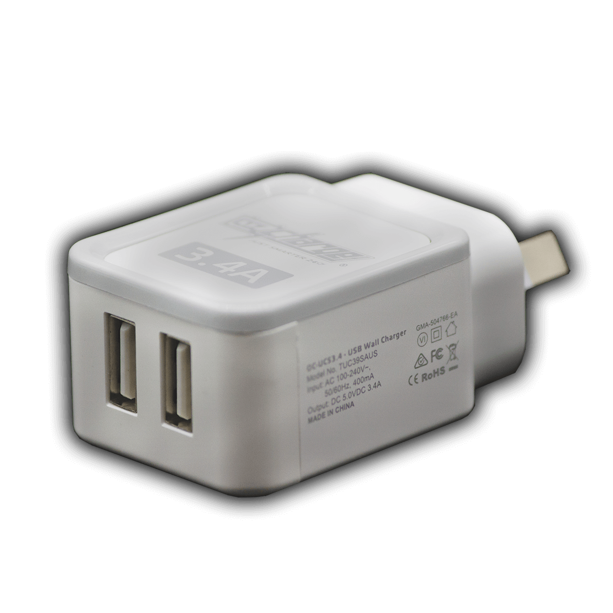 OC-UC53.4 3.4A Dual USB Port Mains Wall Charger