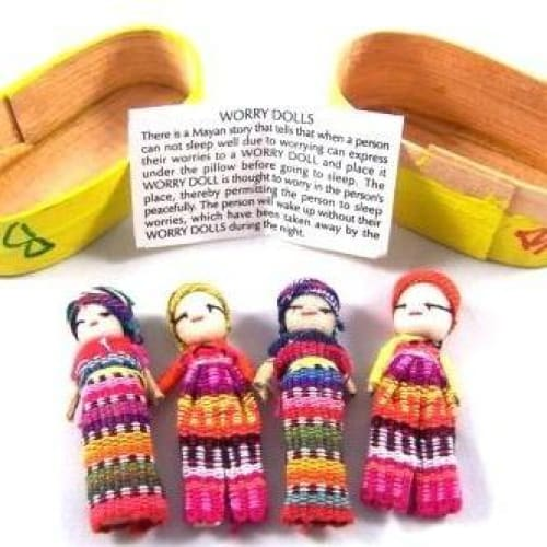 Big Worry Dolls in a traditional box - worry dolls