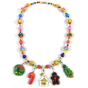 Christmas Necklace with ceramic charms - christmas Gift