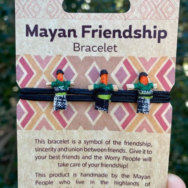 The Three Worry Dolls Amigos Mayan Friendship Bracelet -