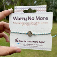 Worry Doll Metal Lucky Charm - Mayan Friendship Bracelet -