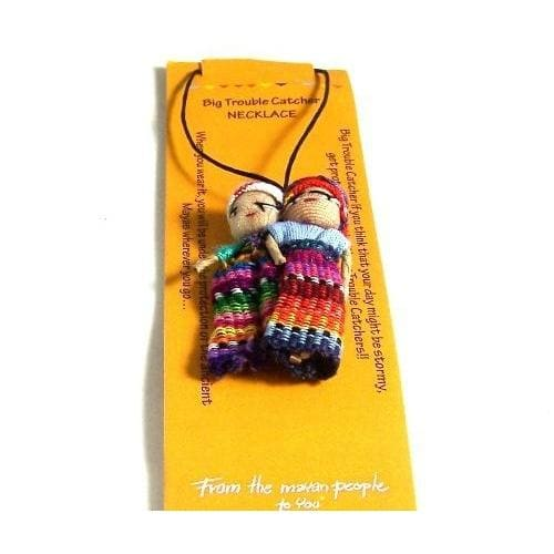 Worry Dolls Trouble Catcher Necklace - worry dolls
