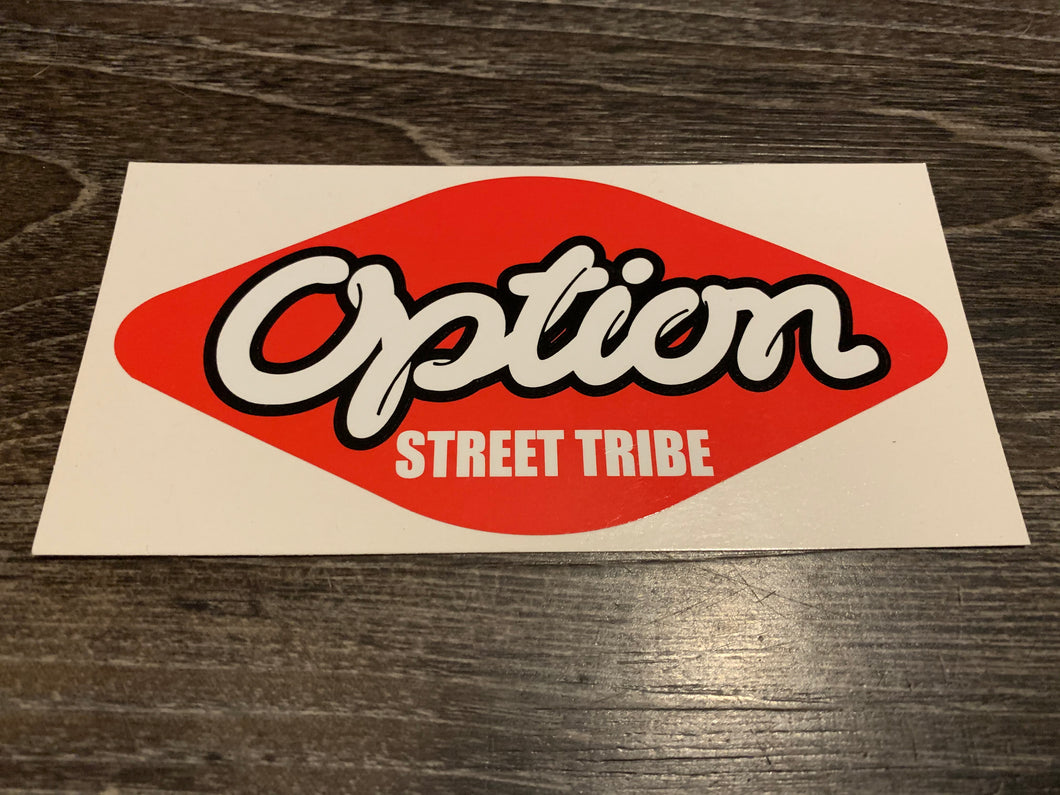 Option Street Tribe Sticker
