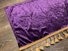Load image into Gallery viewer, Purple Crushed Velvet With Gold Tassel