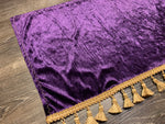 Purple Crushed Velvet With Gold Tassel