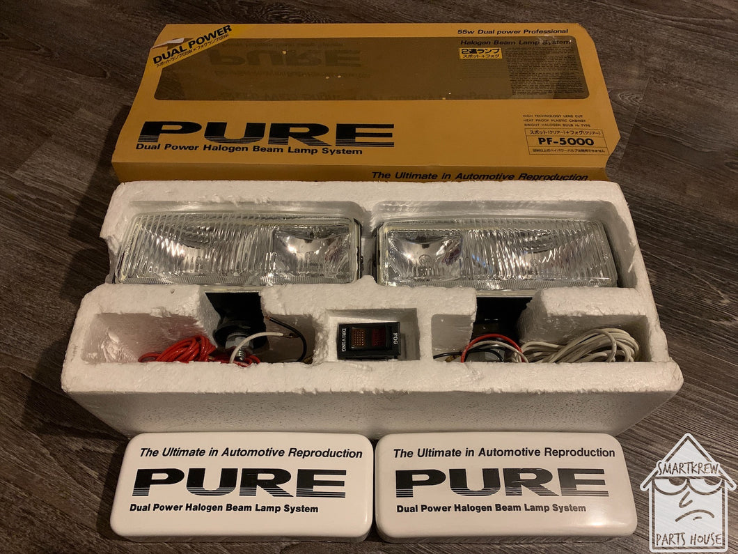 Vintage PURE Dual Power Halogen Beam Fog Lamps