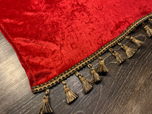 Load image into Gallery viewer, Red Crushed Velvet With Black/Gold Tassel