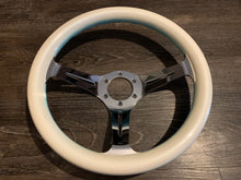 Load image into Gallery viewer, Custom Painted 330mm Blue/White Wheel