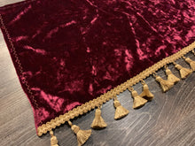 Load image into Gallery viewer, Burgundy Crushed Velvet With Gold Tassel