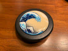 Load image into Gallery viewer, Hand Painted Great Wave Horn Button