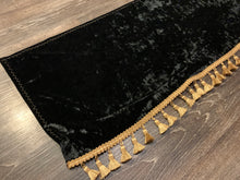 Load image into Gallery viewer, Black Crushed Velvet With Gold Tassle